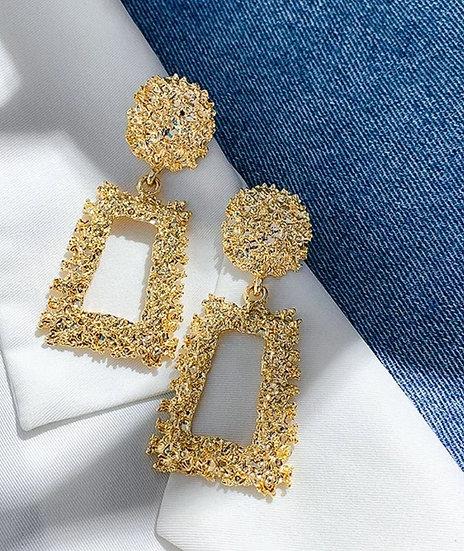 Modern Square Earrings Gold