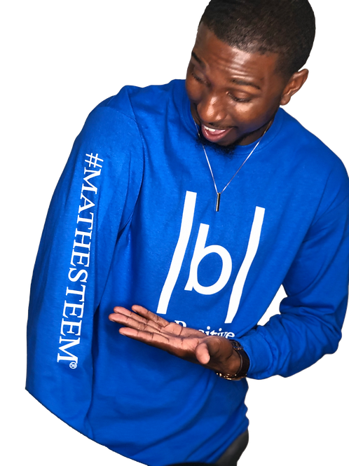 |b| Be Positive (Blue Long Sleeve)