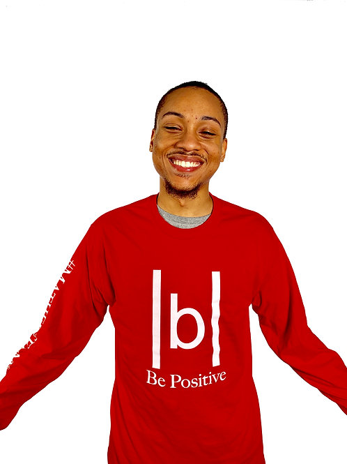 |b| Be Positive (Red Long Sleeve)