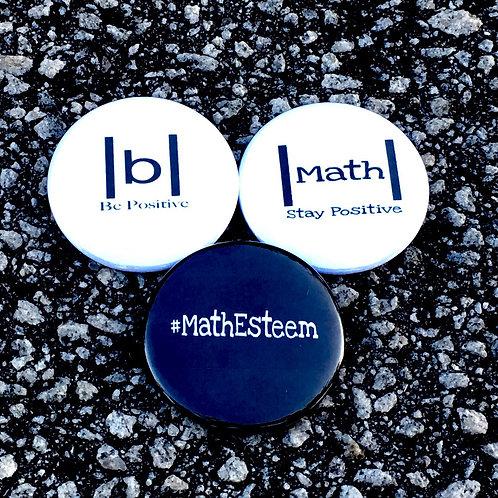 3 Large MathEsteem Buttons