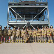 Firefighter students in training