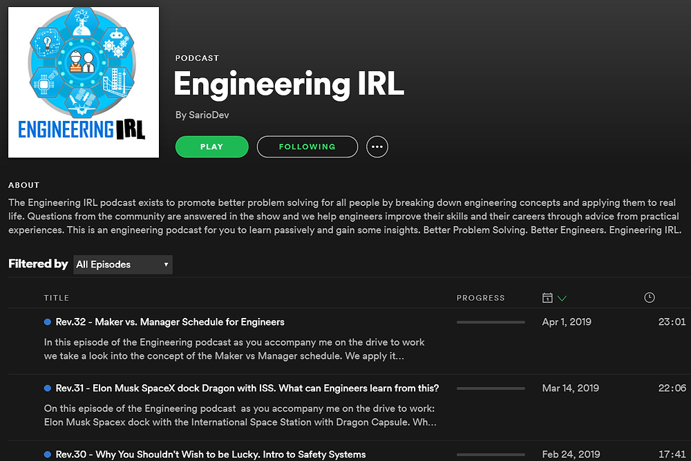 Engineering IRL on Spotify