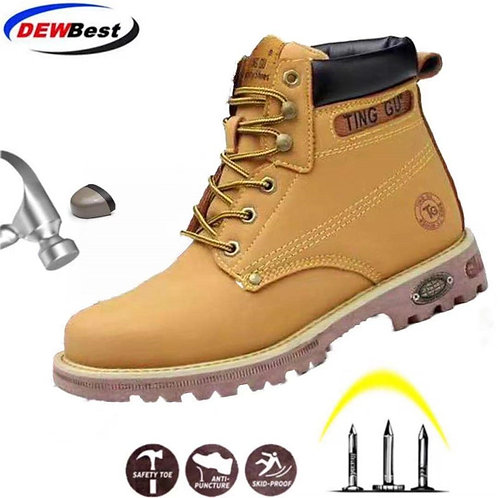 DEWBEST 2020 New Men's Safety Shoes (Steel Toe Cap)