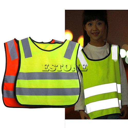 Kids Safety Hi Vis Vest with Reflective Strips
