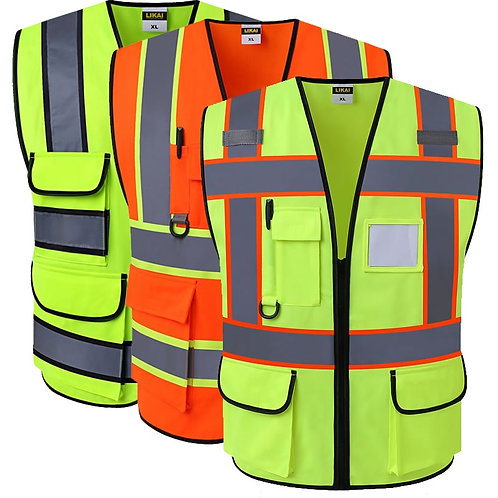 SPARDWEAR Hi-Vis Engineering Safety Vest with Reflective Strips
