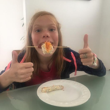 Holly and her yummy sandwich Sushi! Inspired by Yum Club