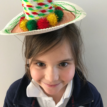 Renata and her super duper hat! Inspired by Magnificent Scrapbookers!