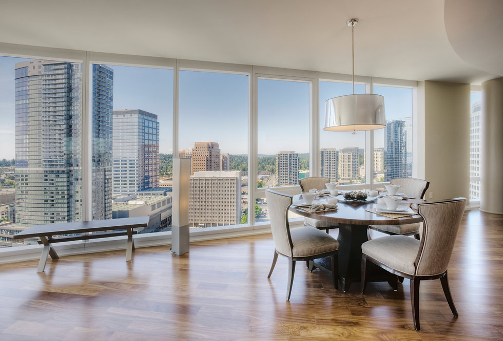 dining-room-of-luxury-highrise-apartment