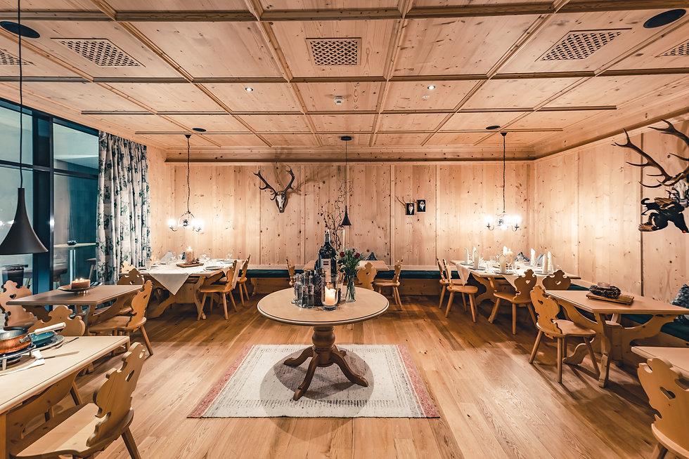 Luxury restaurant in Alps