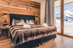 Schlafzimmer mit Panorama