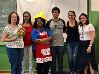 Jovem Imunologista realiza a sua primeira atividade na escola Estadual Prof. Sebastião Fernandes Pal