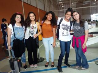 Integrantes do Projetos Meninas nas Ciências visitam a etapa regional da Olimpíada Brasileira de Rob