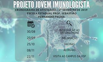 Cronograma de Atividades do Projeto Jovem Imunologista – 2º semestre de 2019
