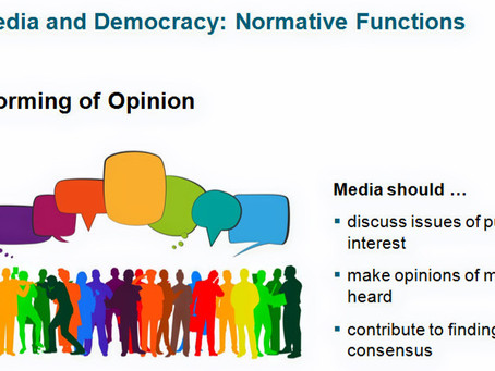 Media in a Democracy - How does it actually work?