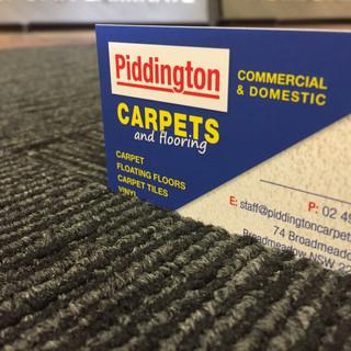 Carpet tiles used