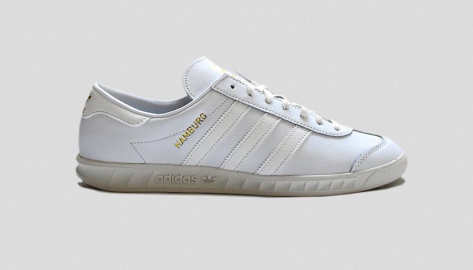 Adidas Hamburg White Leather
