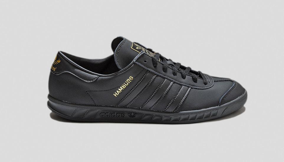 Adidas Hamburg Black Leather
