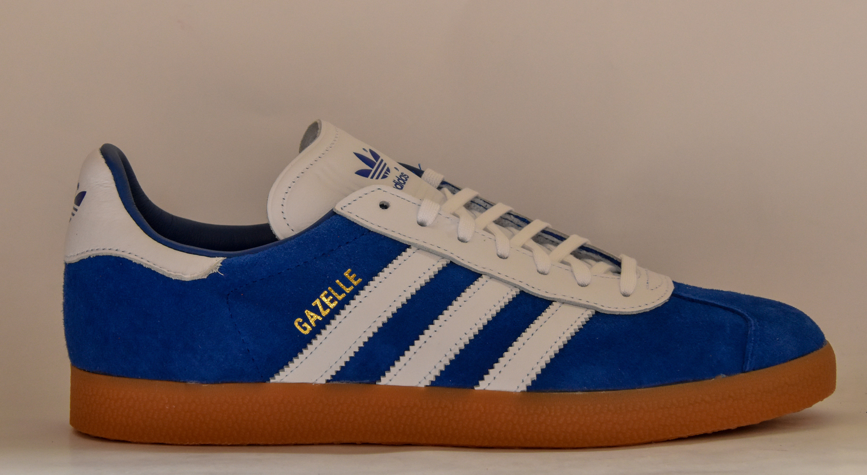 pas cher pour réduction da8ea 5547d Adidas Gazelle Blue/White
