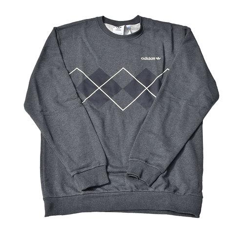 Adidas Argyle Sweatshirt Grey