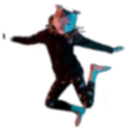 jumping polygon person mask