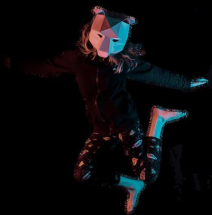 Jumping Polygonal Bear
