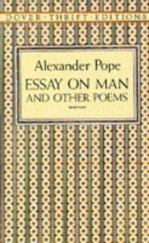 Alexander Pope—Essay On Man And Other Poems
