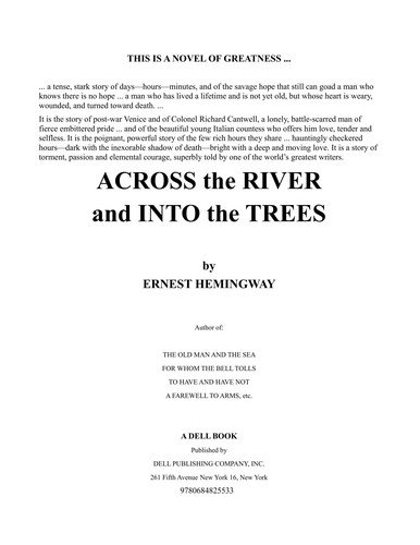 Ernest Hemingway—Across the river and into the trees