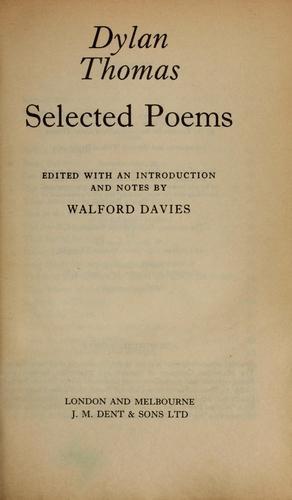 Dylan Thomas—Selected Poems Of Dylan Thomas