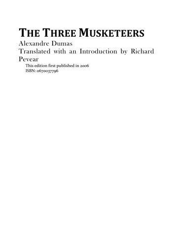 Alexandre Dumas—The three musketeers