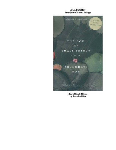 Arundhati Roy—The God Of Small Things