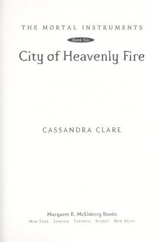 Cassandra Clare—City Of Heavenly Fire