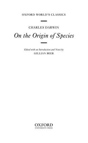Charles Darwin—On The Origin Of Species