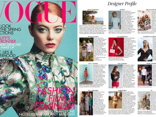 Eva Innocenti featured in British Vogue - February 2019!