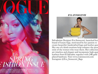 Eva Innocenti featured in British Vogue - March 2019!