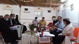 קבלת שבת בסוכה בהשתתפות חברים ואנשי דת מקהילות חיפה