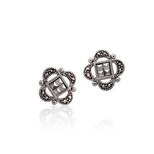 Silver Marcasite stud Earrings