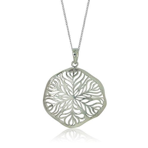 Sterling Silver Leaf Ajour Pendant