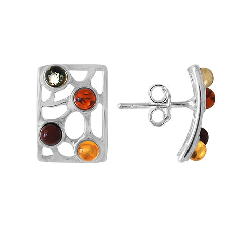 Sterling Silver Multicoloured Stud earrings