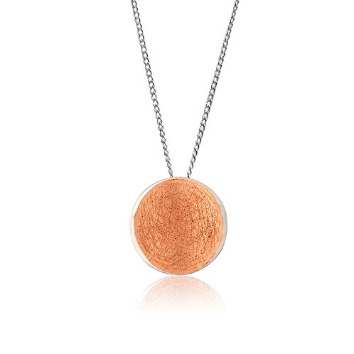 Sterling Silver Round Goldplated Pendant