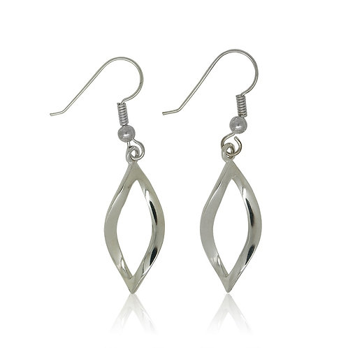 Sterling Silver Open Marquise Drop Earring