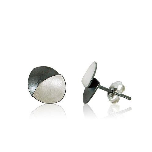 Handmade Designer Sterling Silver Oxidised Stud Earring