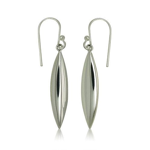 Sterling Silver Torpedo Drop Earrings