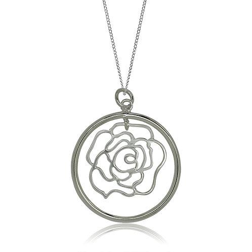 Sterling Silver Open Flower Pendant