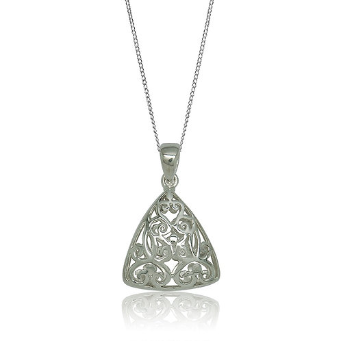 Sterling Silver Triangular Ajour Pendant