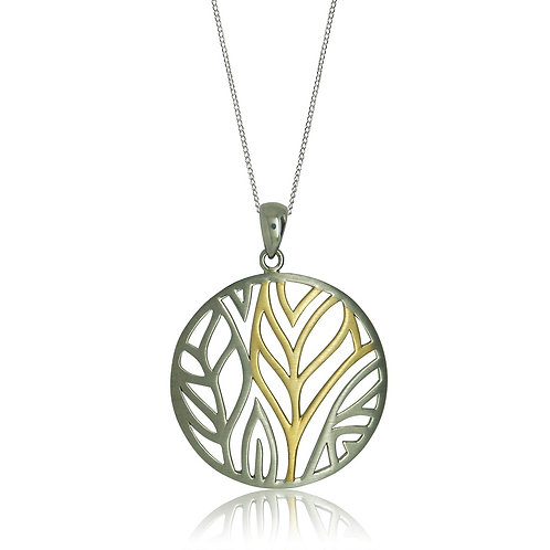 Sterling Silver Gold Plated Pendant
