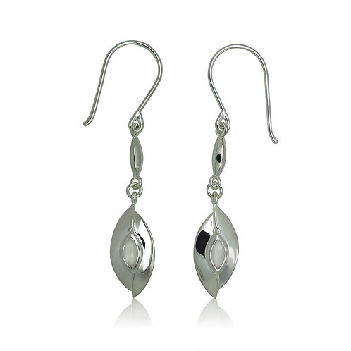 Sterling Silver with Marquise Moonstone Drop Earring