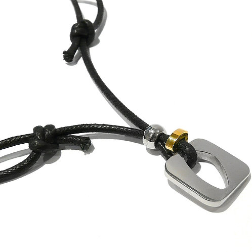 Stainless Steel Goldplated Square Pendant