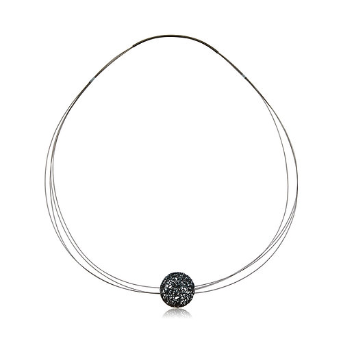 Handmade Designer Steel Wire with Oxidised Copper Sphere Collar