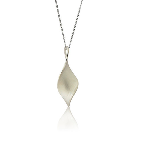 Sterling Silver Marquise Twist Pendant