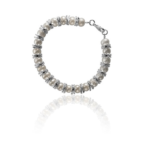 Sterling Silver  and Fresh Water Pearl Bracelet